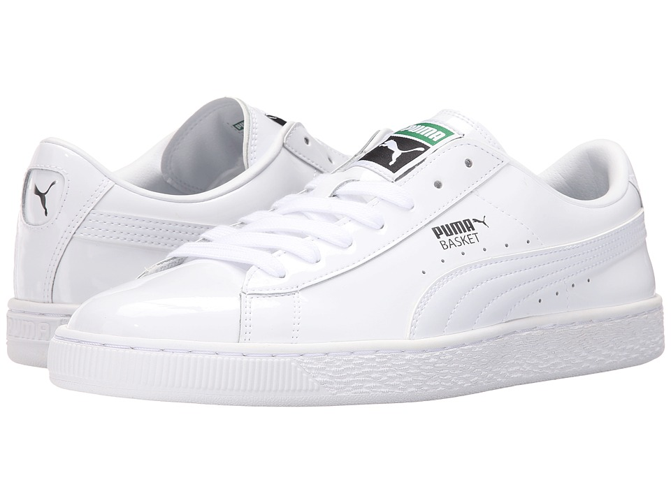 PUMA - Basket Matte Shine (White/White) Men's Lace up casual Shoes