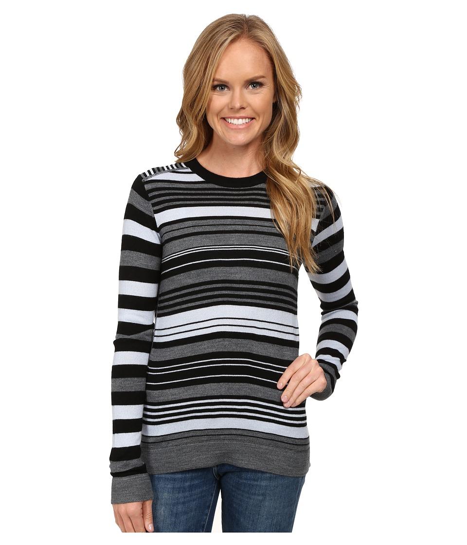 Obermeyer - Fiona Stripe Knit Crew (Black) Women's Sweater