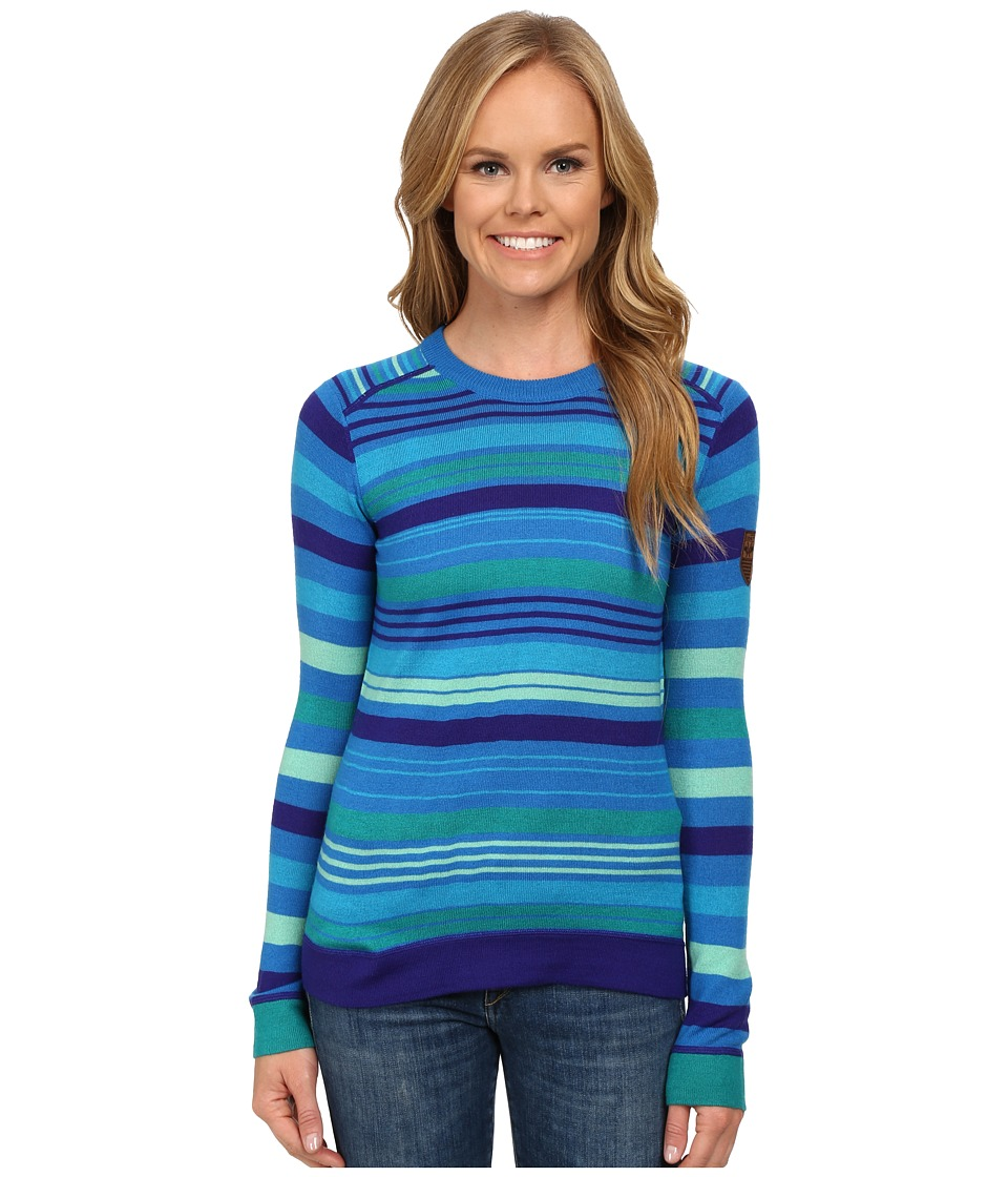 Obermeyer - Fiona Stripe Knit Crew (Sonic Blue) Women's Sweater
