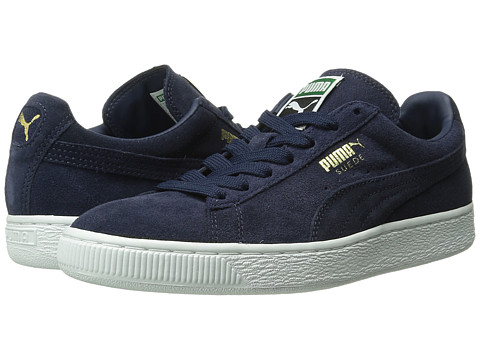 PUMA - Suede Classic+ (Peacoat/Peacoat/White) Men's Shoes