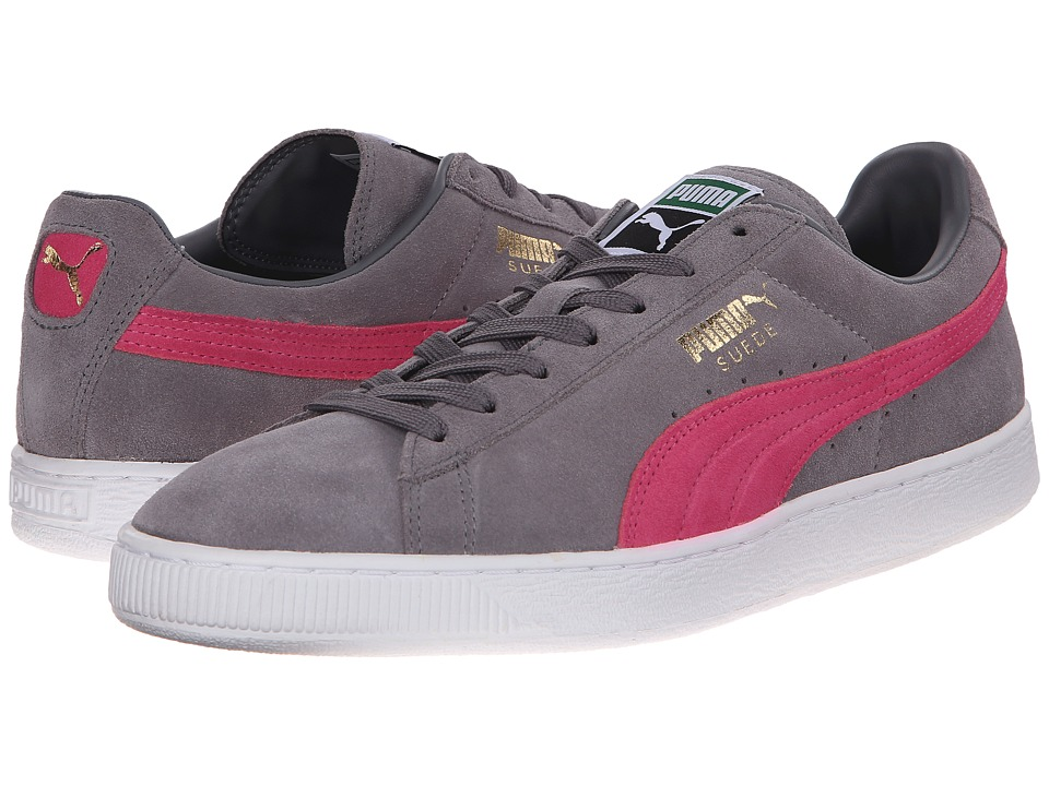 PUMA - Suede Classic+ (Steel Gray/Fluo Pink/White) Men