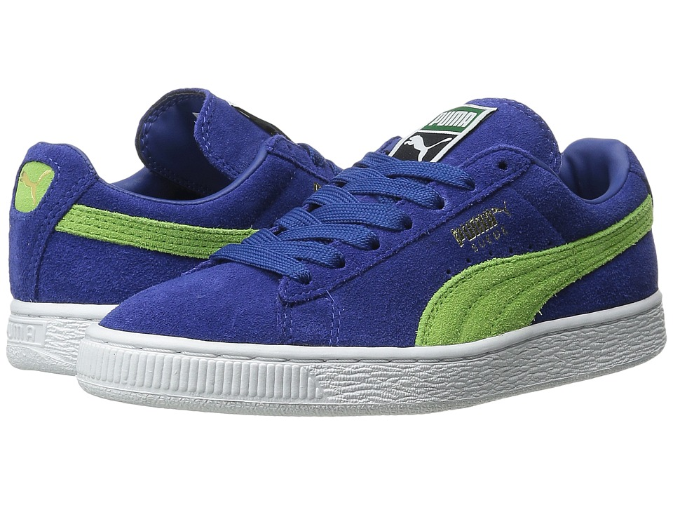 PUMA - Suede Classic+ (Limoges/Jasmine Green/White) Men