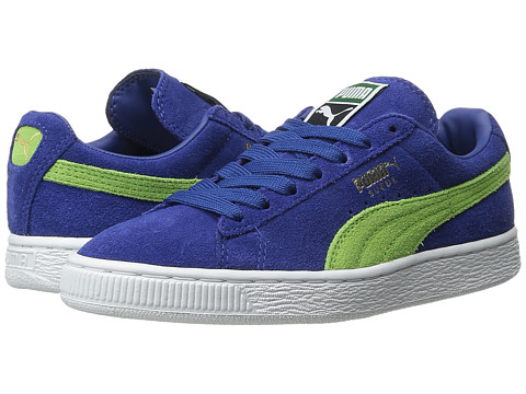 PUMA - Suede Classic+ (Limoges/Jasmine Green/White) Men's Shoes