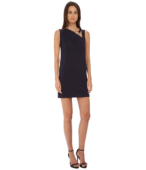 Versace Collection - Scuba Dress (Navy) Women's Dress