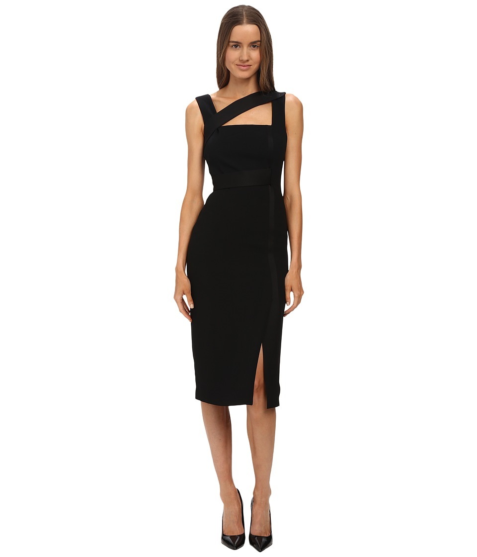 Versace Collection Dress Asymmetrical Neckline (Black) Women