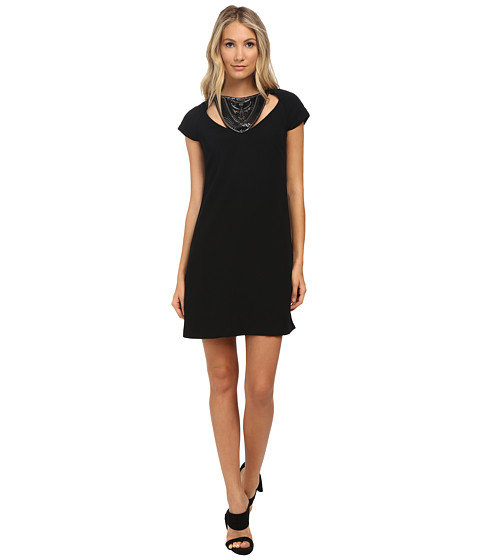 Versace Collection - Cocktail Dress with Beading (Black) Women's Dress