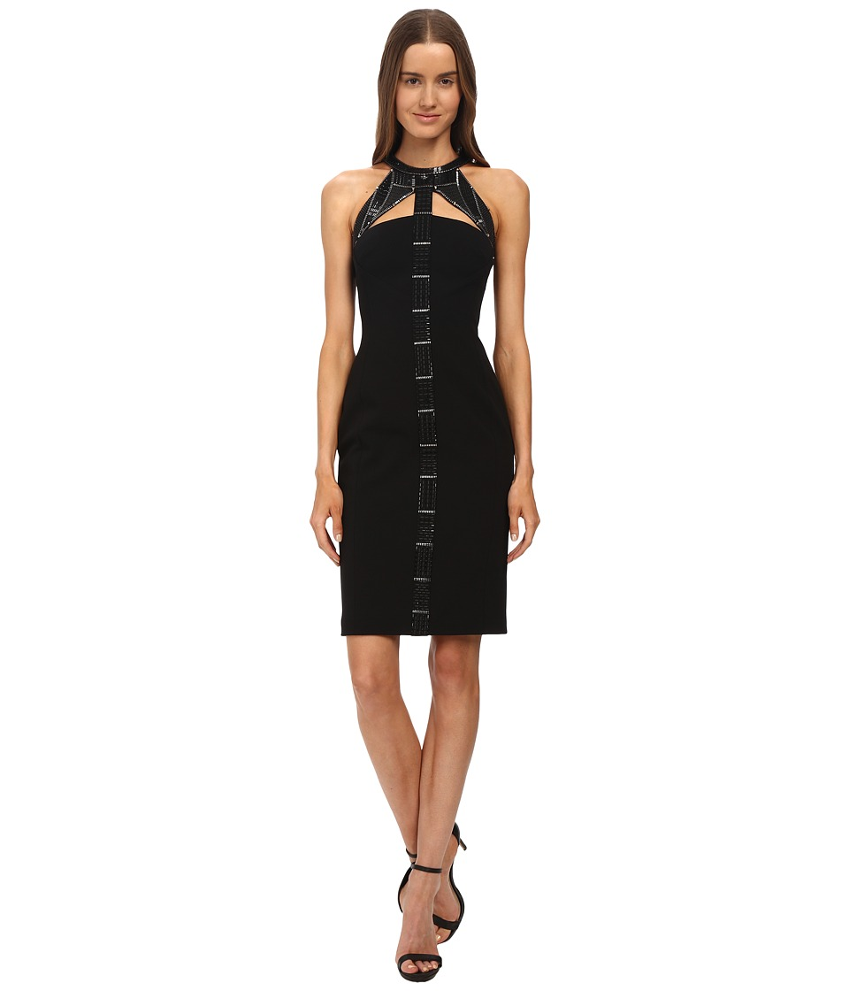 Versace Collection - Beaded Cocktail Dress (Black) Women's Dress