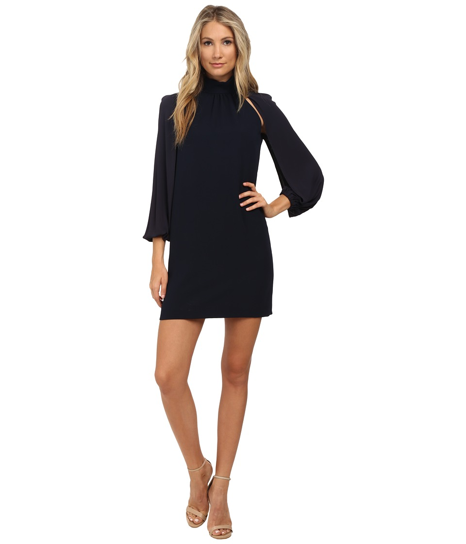 Versace Collection - Long Sleeve Open Arm Dress (Navy) Women's Dress