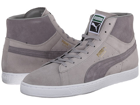 PUMA - Suede Mid Classic+ (Drizzle/Steel Gray/White) Men's Shoes