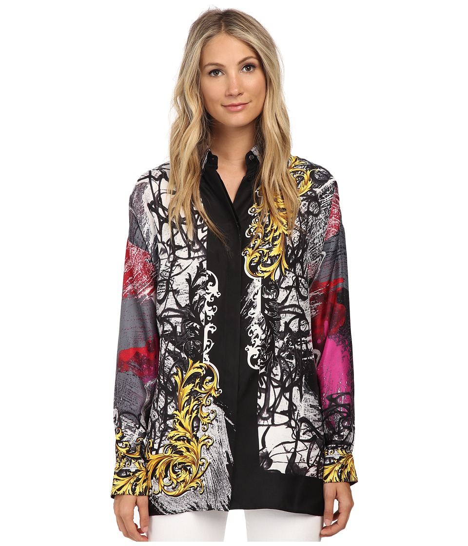 Versace Collection - Street Baroque Large Blouse (Black/Viola) Women's Blouse