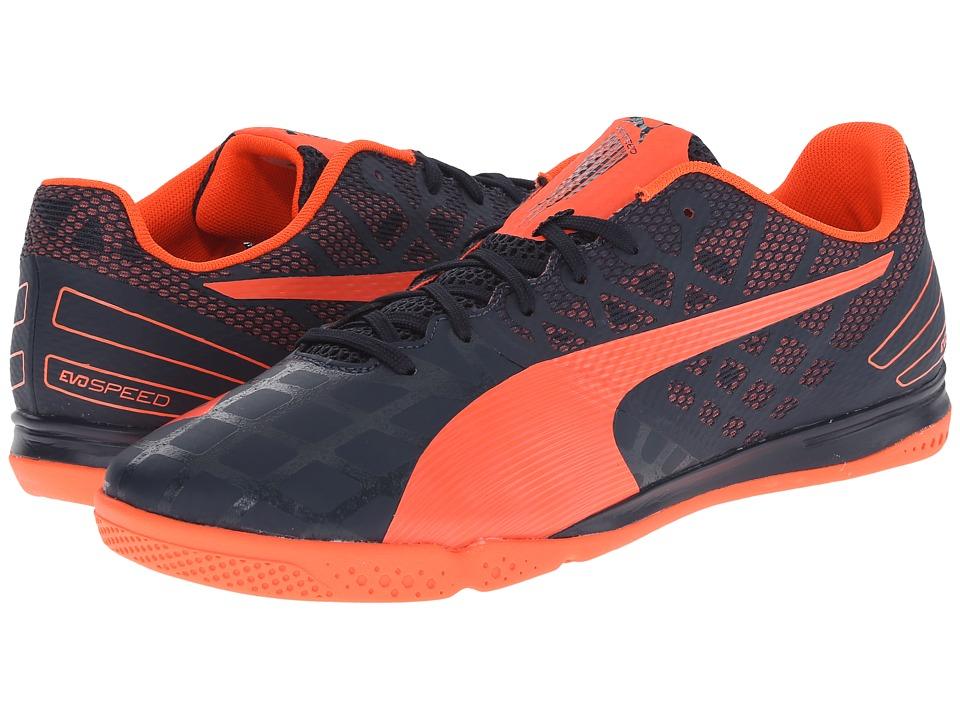 PUMA - evoSPEED Sala 3.4 (Total Eclipse/Lava Blast) Men's Soccer Shoes