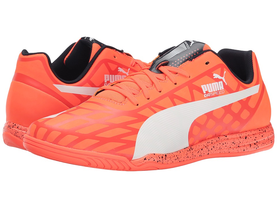 PUMA - evoSPEED Star IV (Lava Blast/White/Total Eclipse) Men