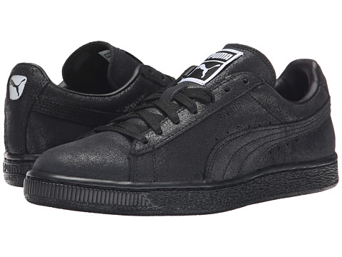 PUMA - Suede Classic Matt Shine (Black/Steel Gray) Women's Shoes