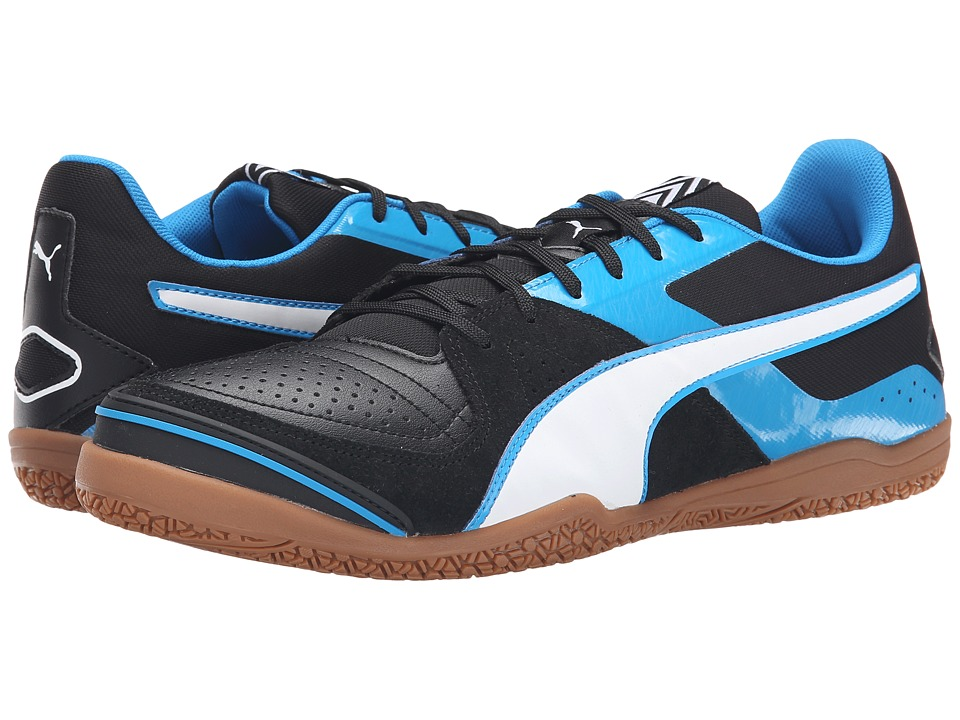 PUMA - Invicto Sala (Black/White/Cloisonn ) Men's Soccer Shoes