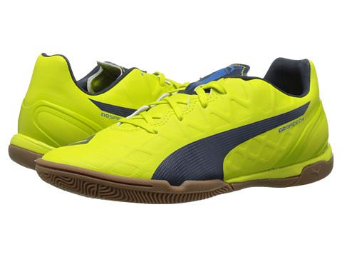 PUMA - evoSPEED 4.4 IT (Sulphur Spring/Total Eclipse/Electric Blue Lemonade) Women's Soccer Shoes