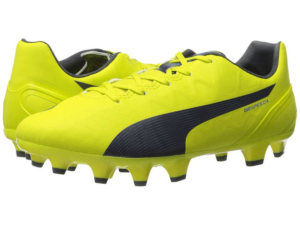 PUMA - evoSPEED 4.4 FG (Sulphur Spring/Total Eclipse/Electric Blue Lemonade) Women's Soccer Shoes