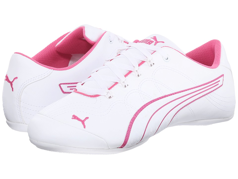 PUMA - Soleil v2 Comfort Fun (White/Carmine Rose) Women's Shoes