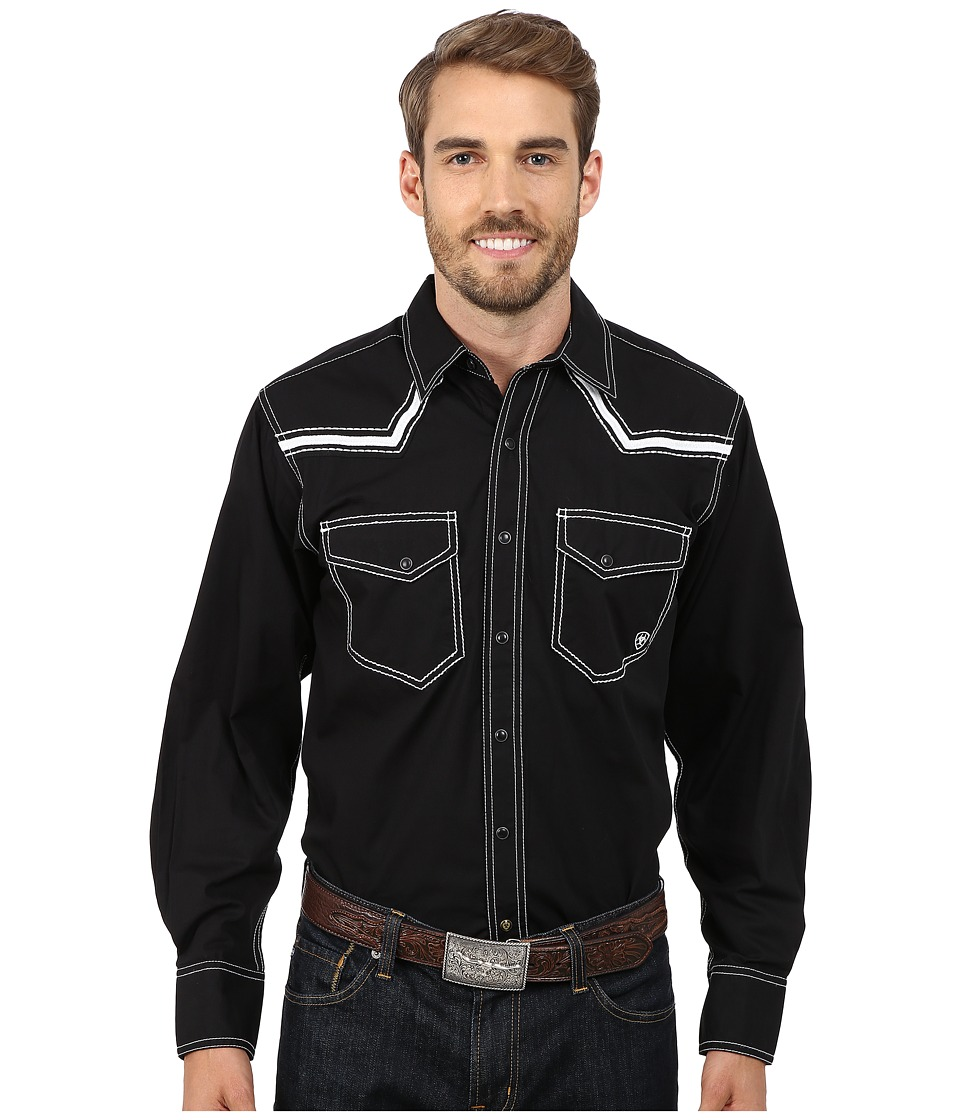Ariat - Clint Snap Shirt (Black) Men's Long Sleeve Button Up