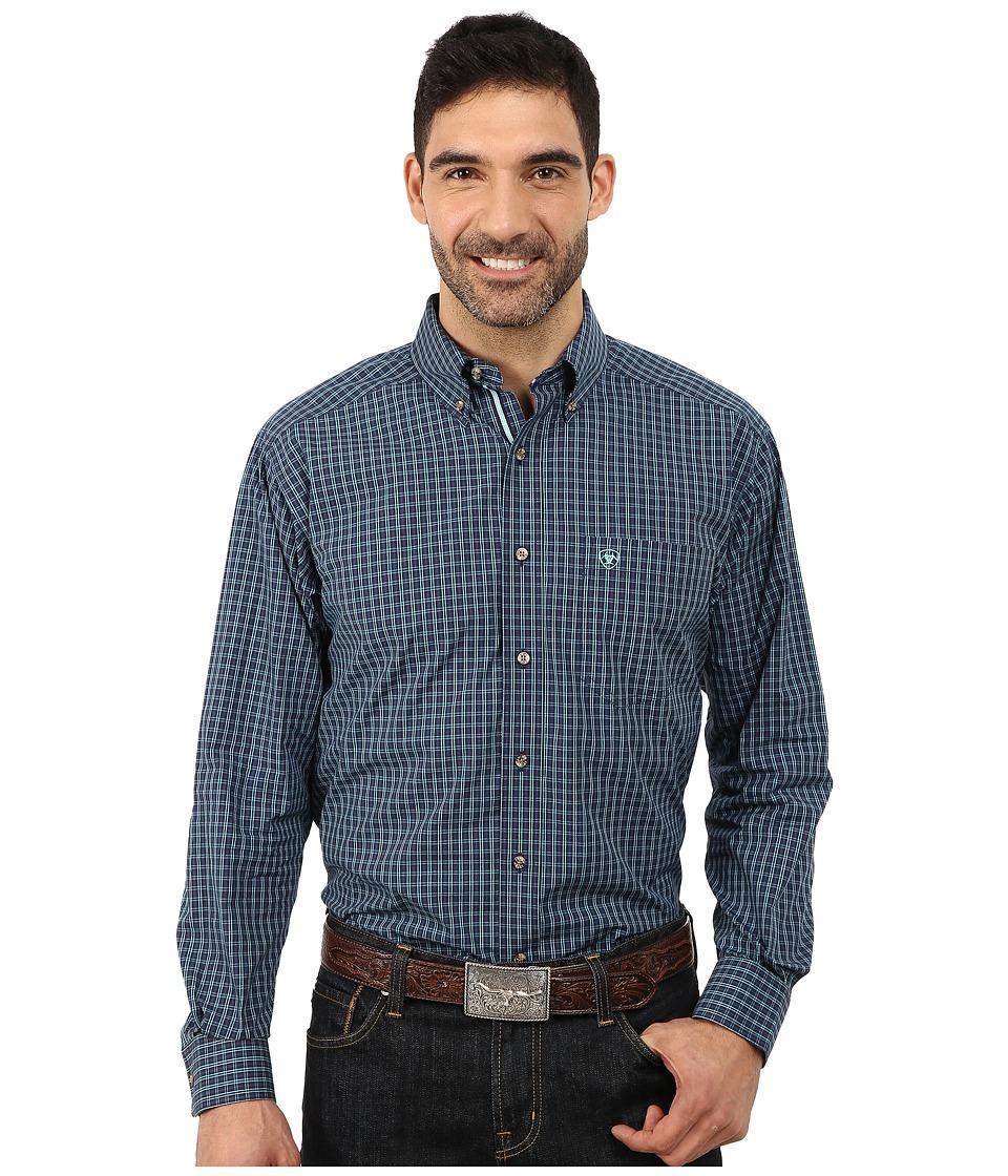 Ariat - Kimball Shirt (Peacoat) Men's Long Sleeve Button Up