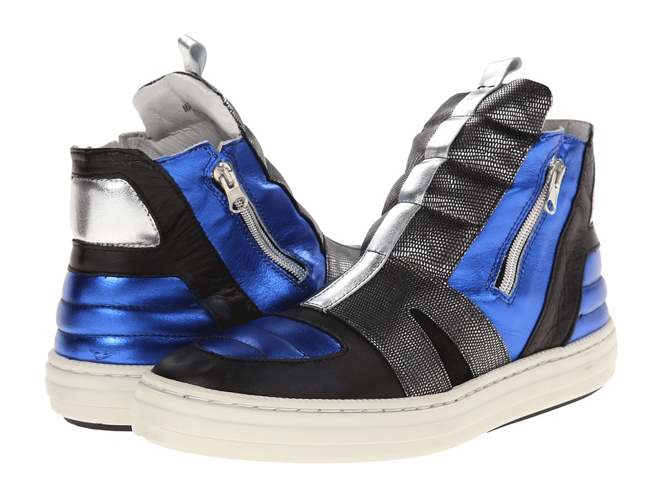 SWEAR - Olly 17 (Blue Multi Leather) Flat Shoes