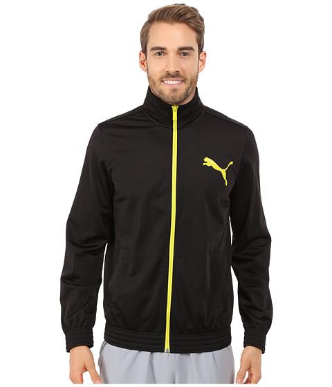 PUMA - Contrast Jacket (Black/Sulphur Spring) Men's Coat