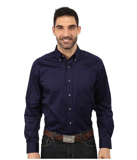 Ariat - Solid Twill Shirt (Peacoat) Men