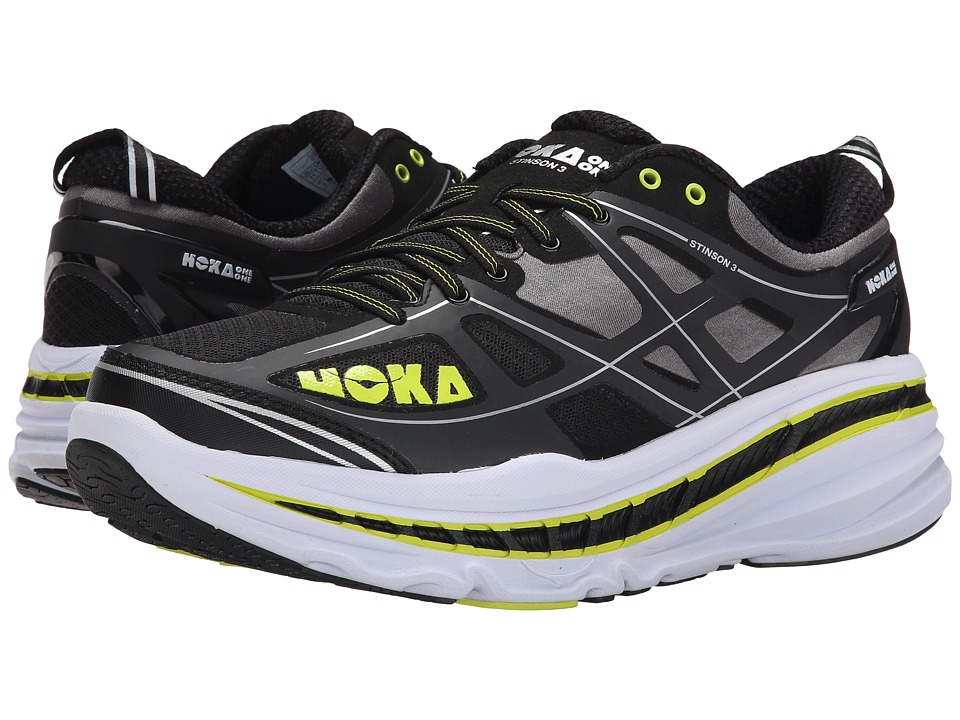 Hoka One One - Stinson 3 (Anthracite/Acid) Men's Running Shoes