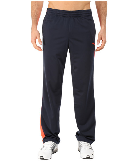 PUMA - Contrast Pant (Total Eclipse/Fiery Coral) Men
