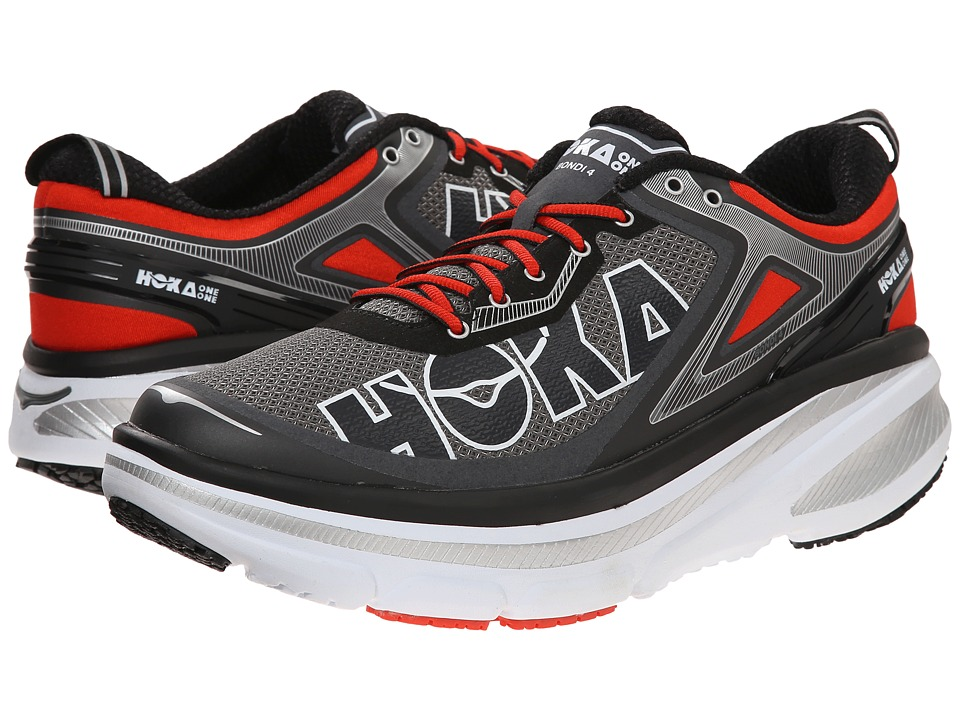 Hoka One One - Bondi 4 (Grey/Orange Flash) Men's Running Shoes