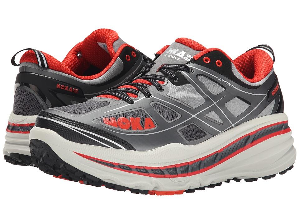 Hoka One One - Stinson 3 ATR (Grey/Orange Flash) Men's Running Shoes