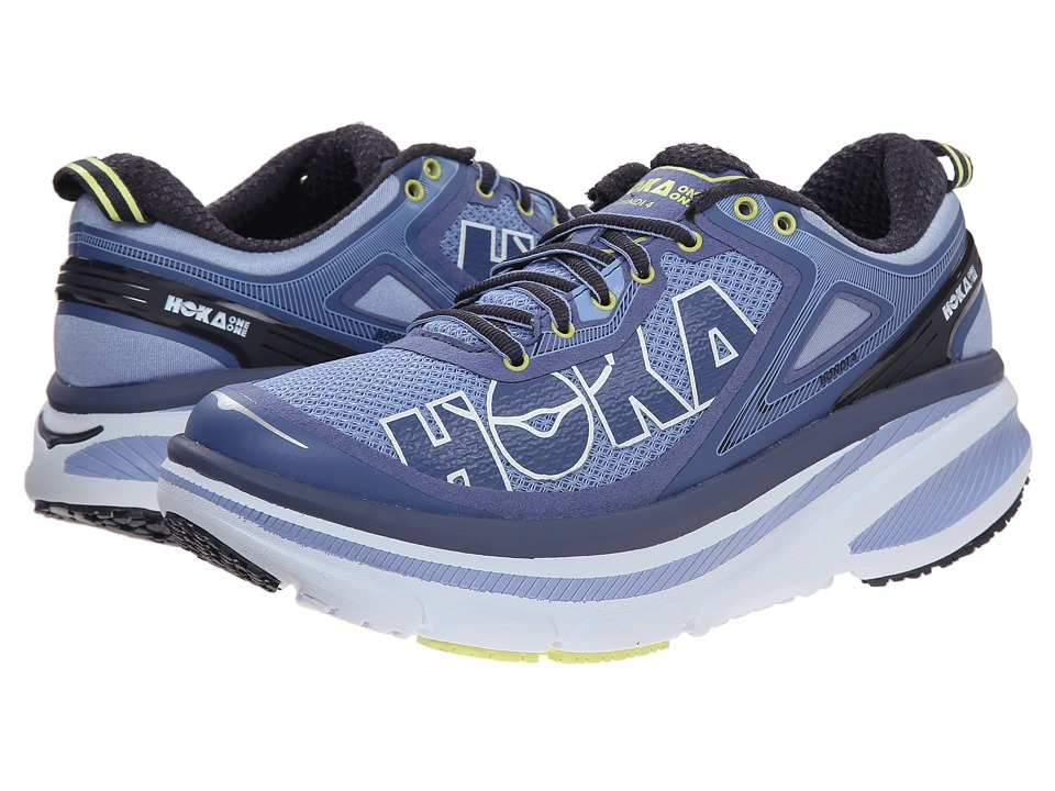 Hoka One One - Bondi 4 (Hydrangea/Sunny Lime) Women's Running Shoes