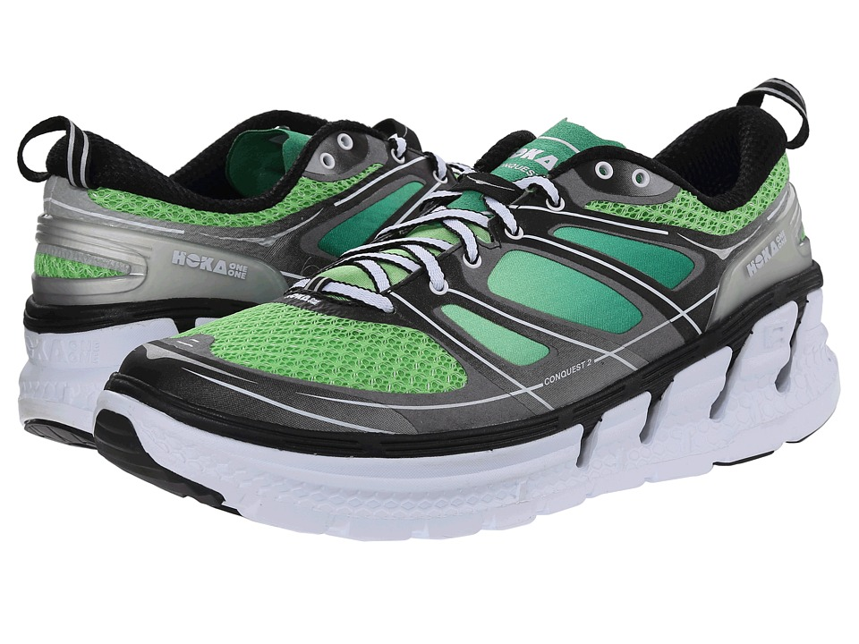 Hoka One One - Conquest 2 (Green Flash/Silver) Men's Running Shoes