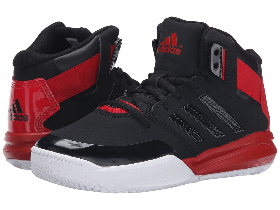 adidas Kids Outrival 2 K (Little Kid/Big Kid) (Black/Scarlet/White) Boys Shoes