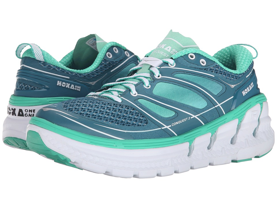 Hoka One One - Conquest 2 (Colonial Blue/Mint Leaf) Women's Running Shoes