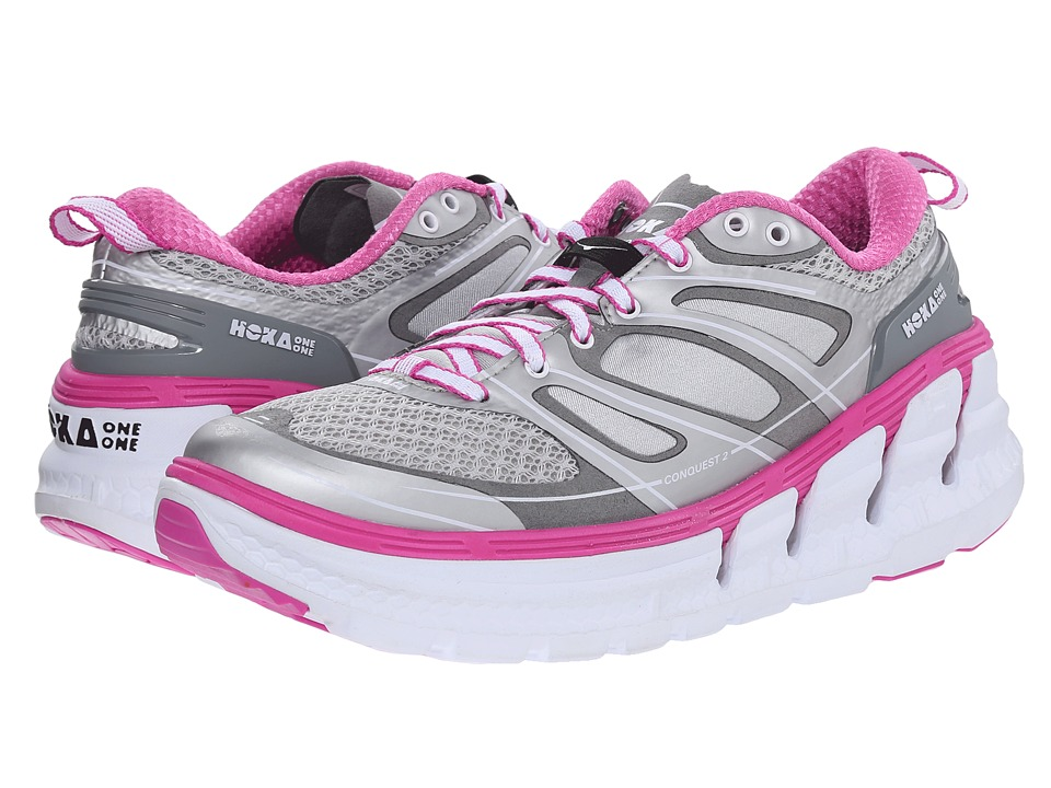 Hoka One One - Conquest 2 (Silver/Fuchsia) Women's Running Shoes