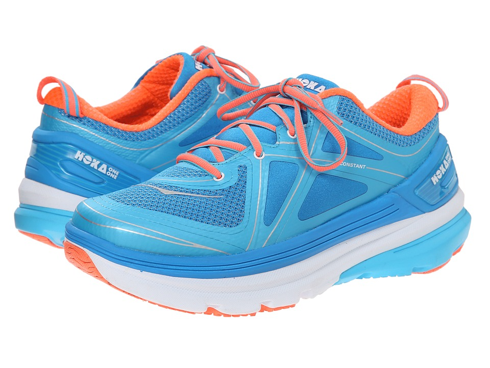 Hoka One One - Constant (Blue Atoll/Neon Coral) Women's Running Shoes