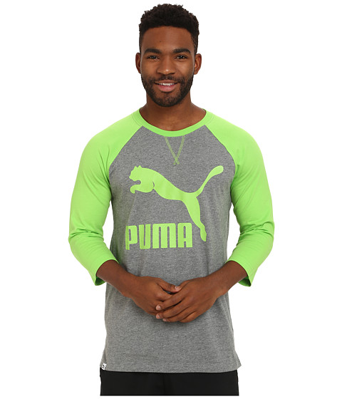 PUMA - Extra Long Raglan (Jasmine Green) Men's Long Sleeve Pullover