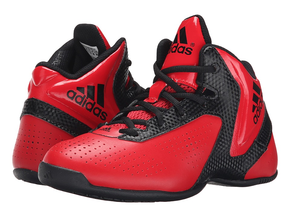 adidas Kids - NXT LVL SPD 3 K (Little Kid/Big Kid) (Scarlet/Black/Scarlet) Boys Shoes