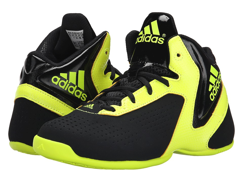 adidas Kids NXT LVL SPD 3 K (Little Kid/Big Kid) (Black/Solar Yellow/Black) Boys Shoes