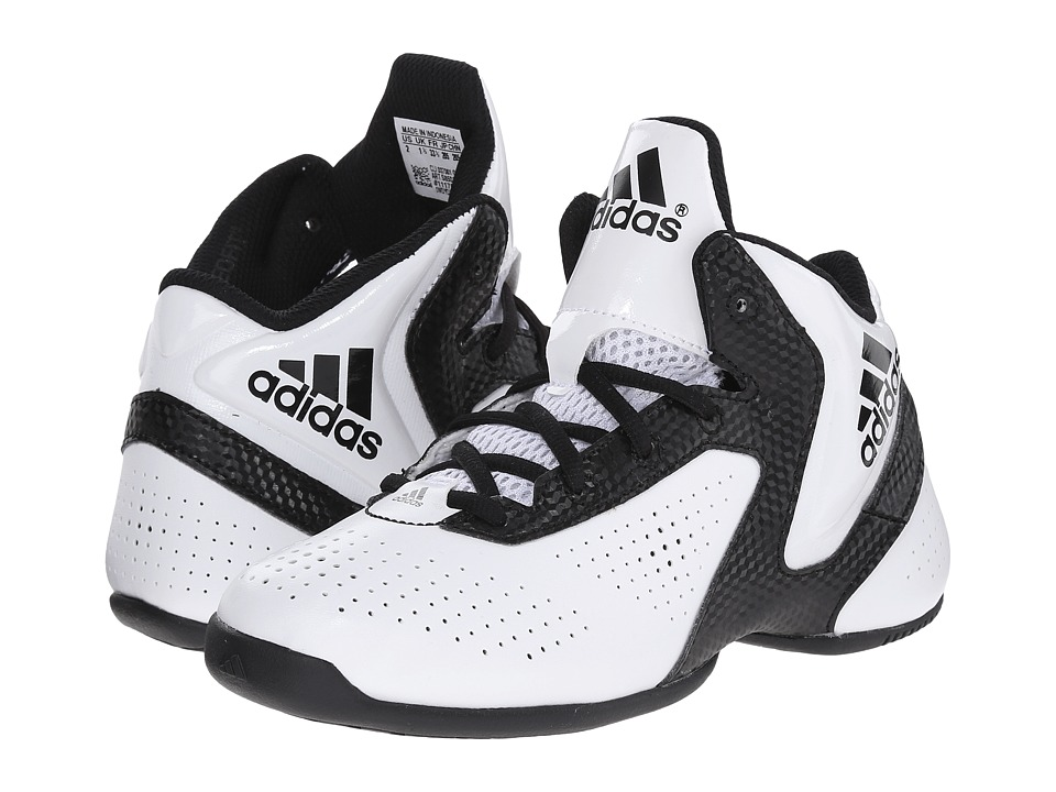 adidas Kids NXT LVL SPD 3 K (Little Kid/Big Kid) (White/Black/White) Boys Shoes