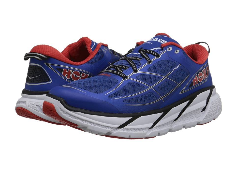 Hoka One One - Clifton 2 (True Blue/Orange Flash) Men's Running Shoes