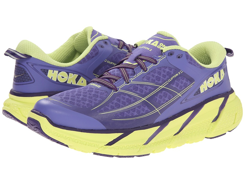 Hoka One One - Clifton 2 (Corsican Blue/Sunny Lime) Women's Running Shoes