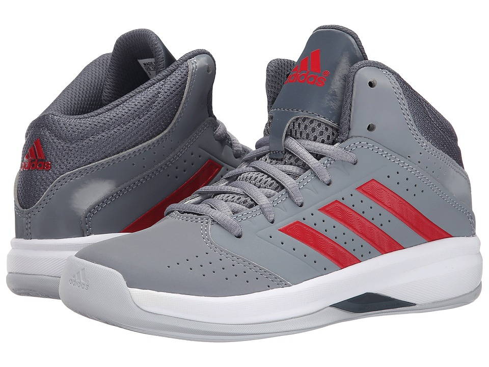 adidas Kids - Isolation 2 K (Little Kid/Big Kid) (Grey/Onix/Scarlet) Boys Shoes