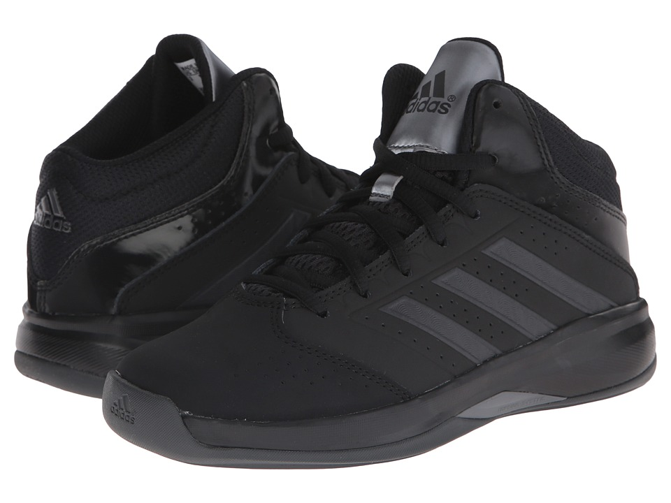 adidas Kids - Isolation 2 K (Little Kid/Big Kid) (Black/Black/Night Metallic) Boys Shoes