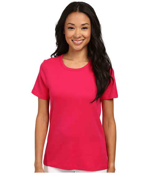Pendleton - S/S Rib Tee (Cherry Pink) Women