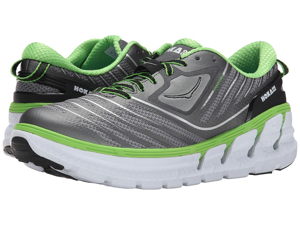 Hoka One One - Vanquish (Grey/Green Flash) Men's Running Shoes