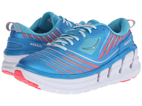 Hoka One One - Vanquish (Dresden Blue/Neon Pink) Women's Running Shoes