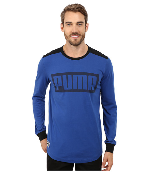 PUMA - Long Sleeve Mesh Knockout Tee (Limoges) Men