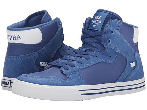 Supra - Vaider (Royal Carlisle Leather/Royal Micro/Nylon Ripstop) Skate Shoes