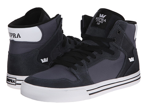 Supra - Vaider (Charcoal Carlisle Leather/Charcoal Nylon/Micro Ripstop) Skate Shoes
